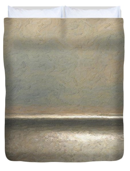 Not Quite Rothko - Twilight Silver Duvet Cover