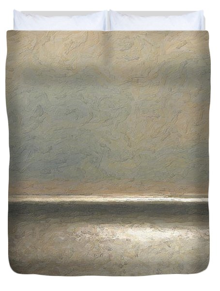 Not Quite Rothko - Twilight Silver Duvet Cover