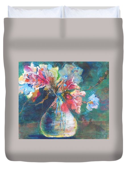 Not Your Mothers Vase Duvet Cover