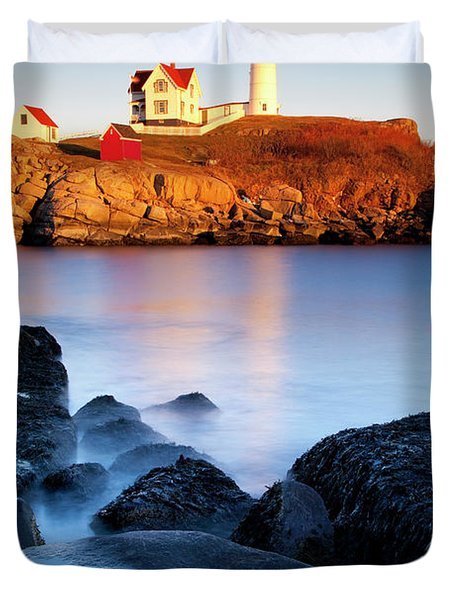 Nubble Lighthouse Duvet Cover by Brian Jannsen