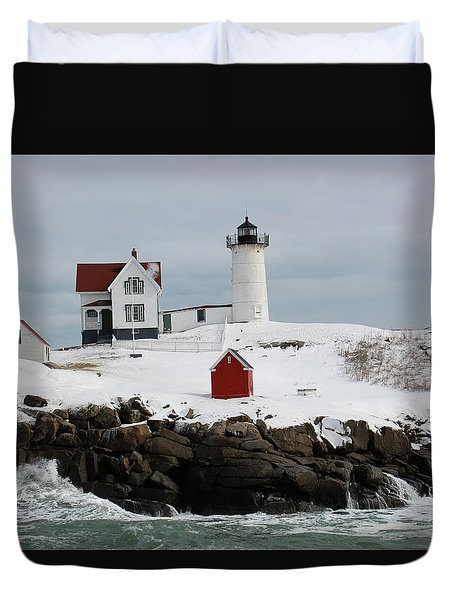 Nubble Point Maine Duvet Cover