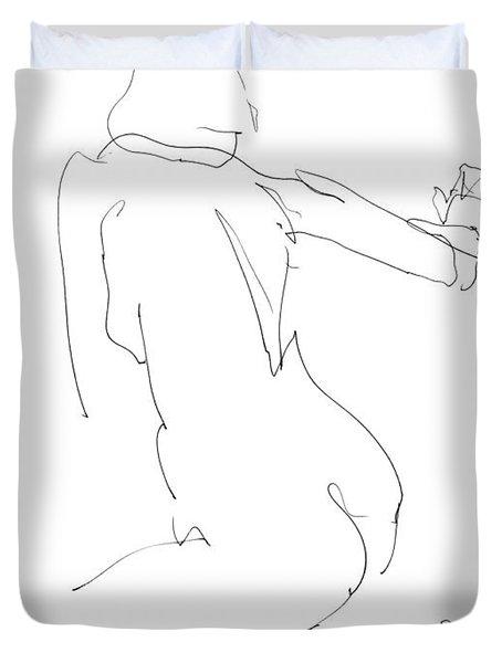 Nude Female Drawings 8 Duvet Cover
