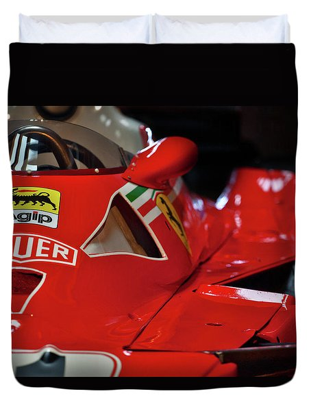 Duvet Cover featuring the photograph Number 11 By Niki Lauda #print by ItzKirb Photography