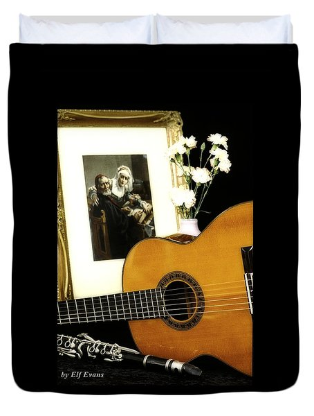 Duvet Cover featuring the photograph Number 2 by Elf Evans