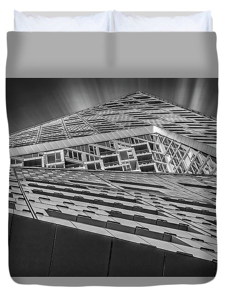 Duvet Cover featuring the photograph Nyc West 57 St Pyramid by Susan Candelario