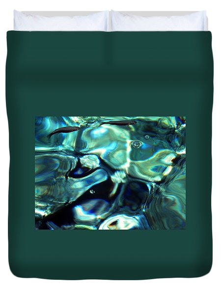 Duvet Cover featuring the photograph Ocean Water by Colette V Hera  Guggenheim