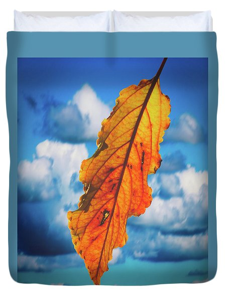 October Leaf B Fine Art Duvet Cover