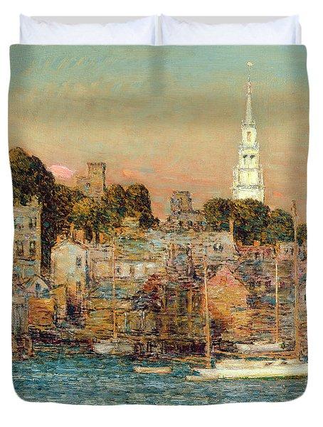October Sundown Duvet Cover by Childe Hassam