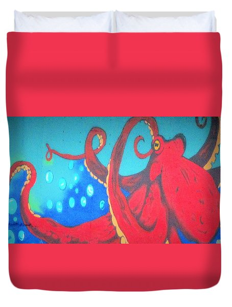 Octopus Duvet Cover by Martin Cline