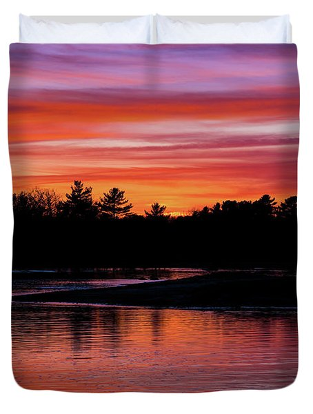 Odiorne Point Sunset Duvet Cover