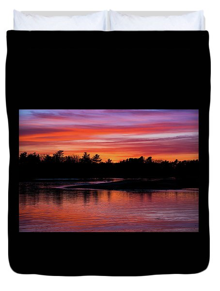 Odiorne Point Sunset Duvet Cover