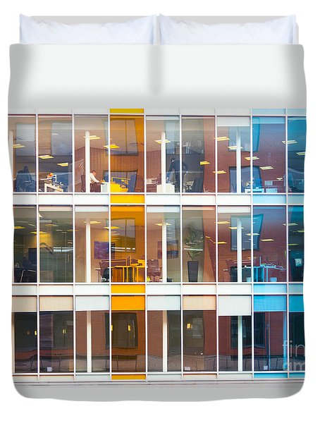 Office Windows Duvet Cover