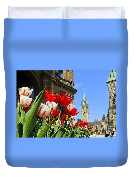 Oh Canada Duvet Cover by Betty-Anne McDonald