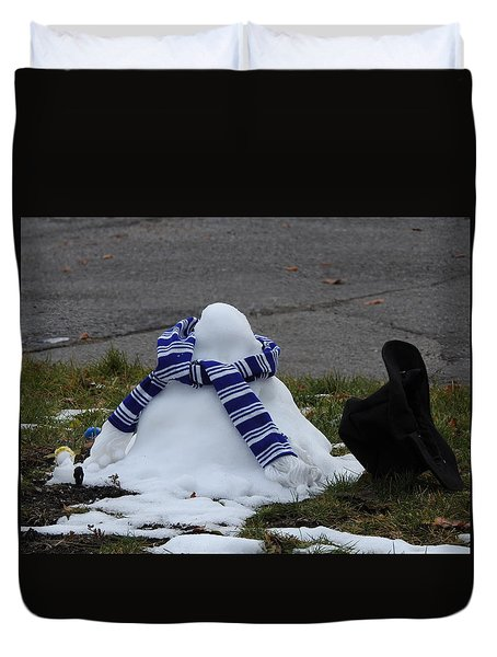 Oh Oh Duvet Cover by Betty-Anne McDonald