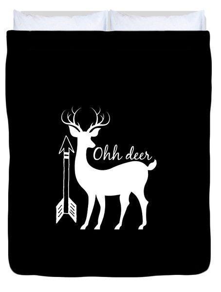 Ohh Deer Duvet Cover by Chastity Hoff