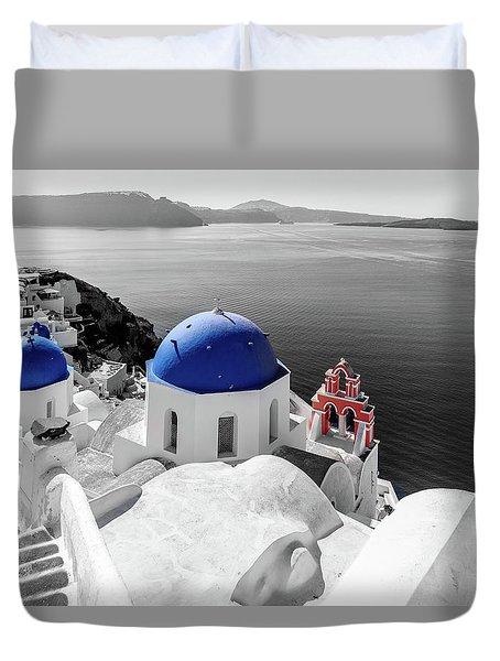 Oia, Santorini - Greece. Duvet Cover