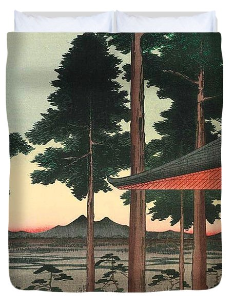 Oji Inari Shrine Duvet Cover