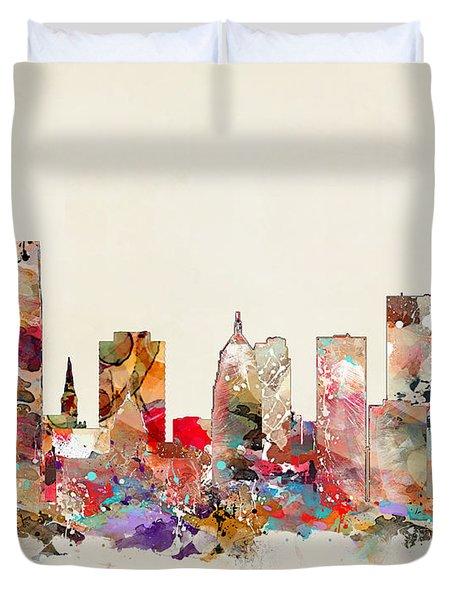 Oklahoma City Oklahoma Duvet Cover by Bri B