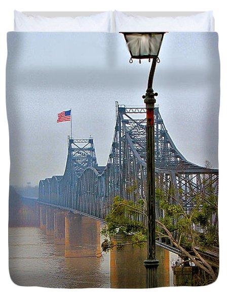 Old Bridge Of Vicksberg, Ms Duvet Cover
