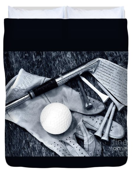 Old Golf Days Duvet Cover