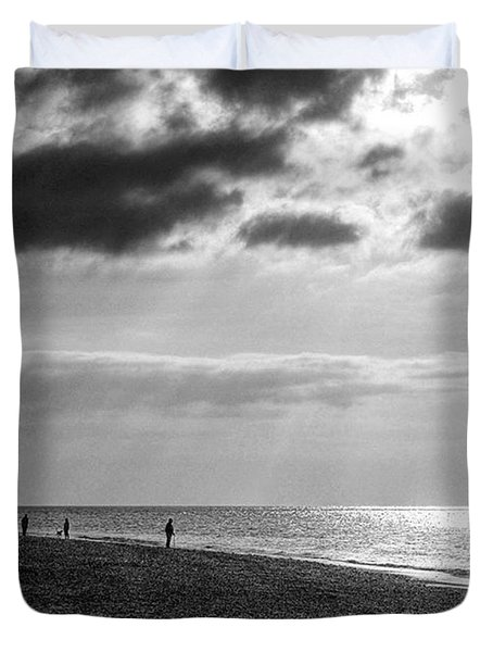 Old Hunstanton Beach, Norfolk Duvet Cover by John Edwards