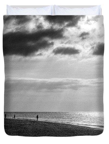 Old Hunstanton Beach, Norfolk Duvet Cover