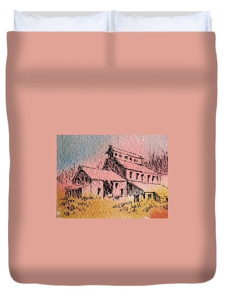 Old Mill Cable Ghost Town Montana_ Duvet Cover by Kevin Heaney