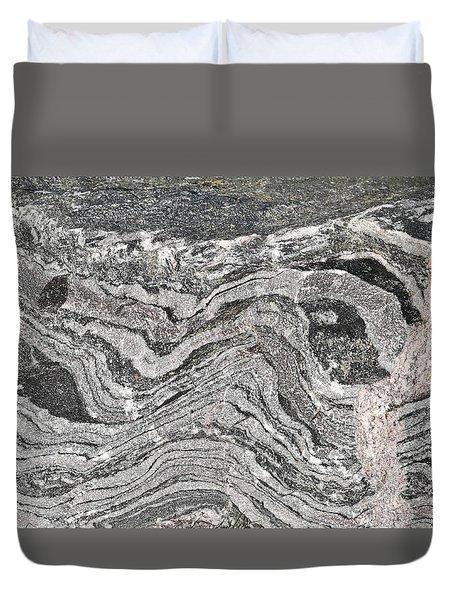 Old Rock Background Duvet Cover