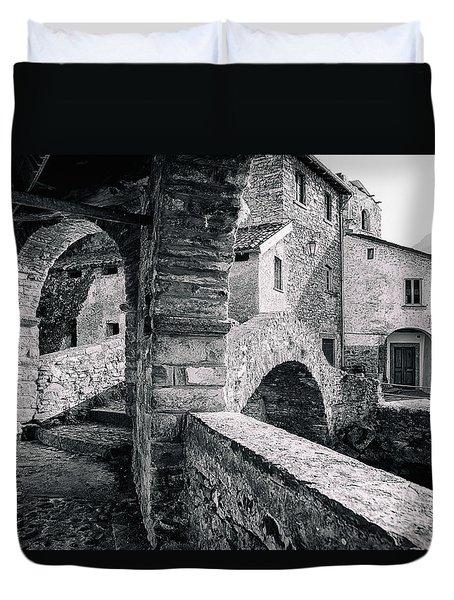 Old Stone Bridge At The End Of Nesso's Ravine, Como Duvet Cover