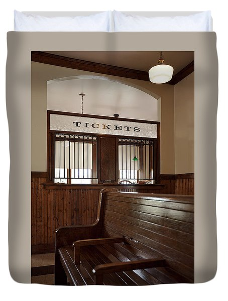 Old Time Train Station Duvet Cover