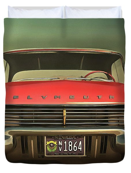 Old-timer Plymouth Duvet Cover