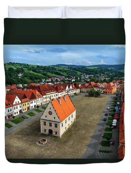 Old Town Square In Bardejov, Slovakia Duvet Cover