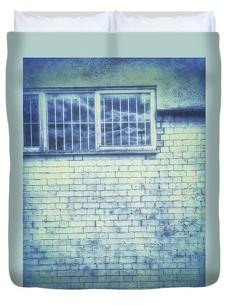 Old Window Bars Duvet Cover