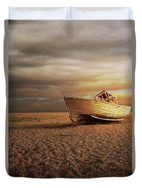 Old Wooden Boat Duvet Cover