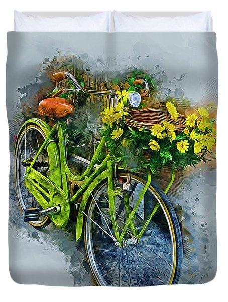 Olde Vintage Bicycle Duvet Cover