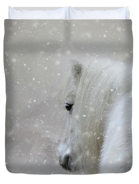 On A Cold Winter Day Duvet Cover