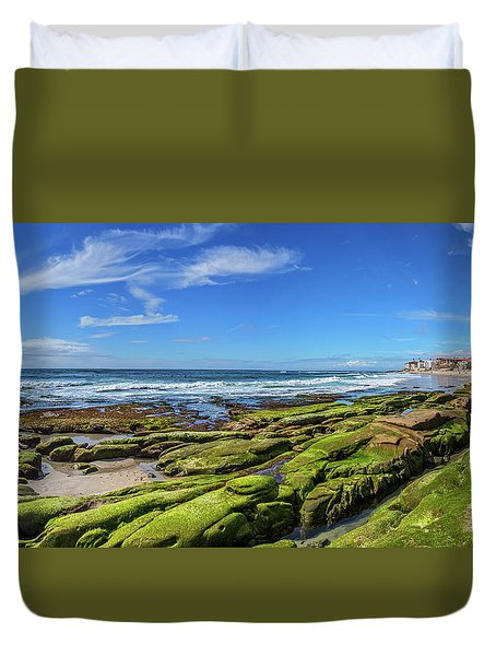 Duvet Cover featuring the photograph On The Rocky Coast by Peter Tellone