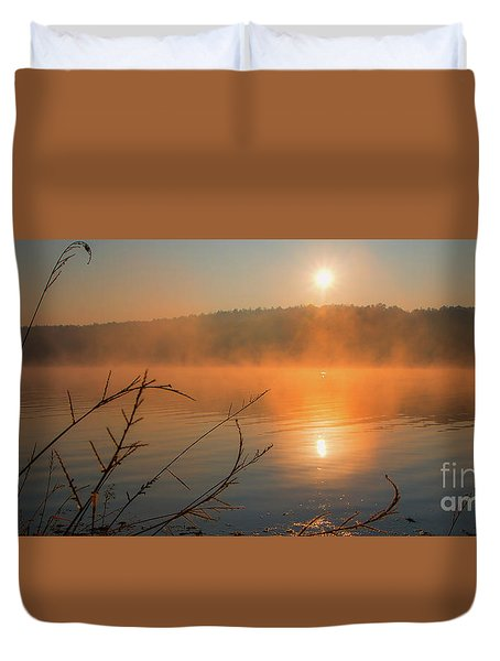 One Autumn Day At Ognyanovo Dam Duvet Cover