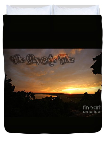 One Day At A Time Duvet Cover