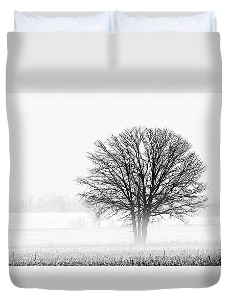 Duvet Cover featuring the photograph One... by Nina Stavlund
