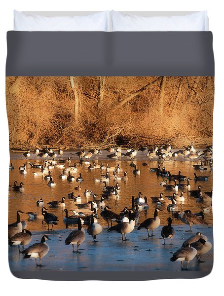 Open Water Duvet Cover by Edward Peterson