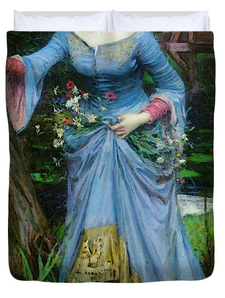 Ophelia Duvet Cover by John William Waterhouse