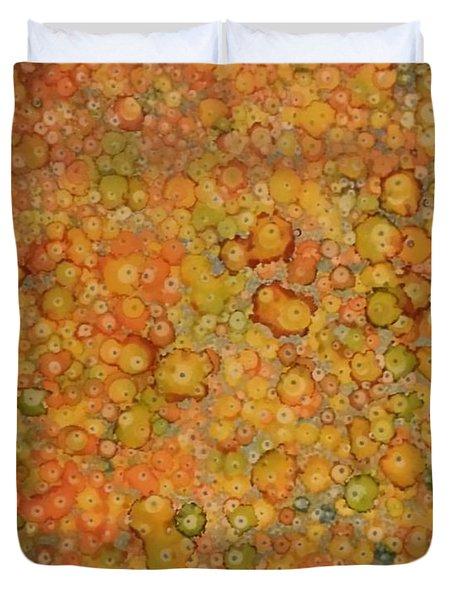 Orange Craze Duvet Cover