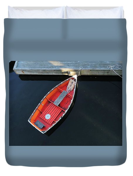 Orange Dinghy Duvet Cover