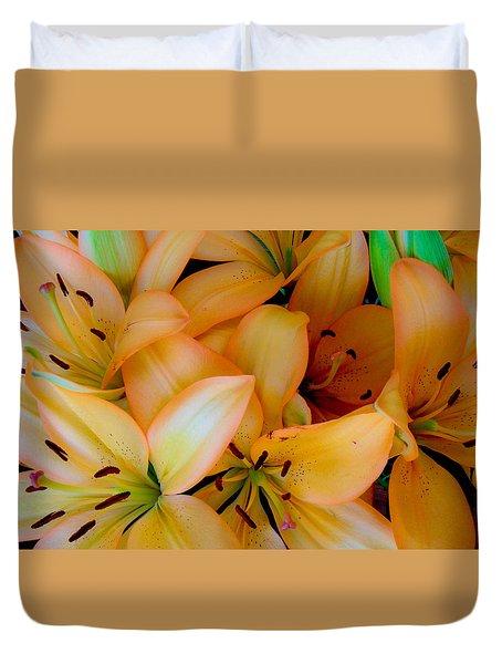 Orange Lilies Duvet Cover