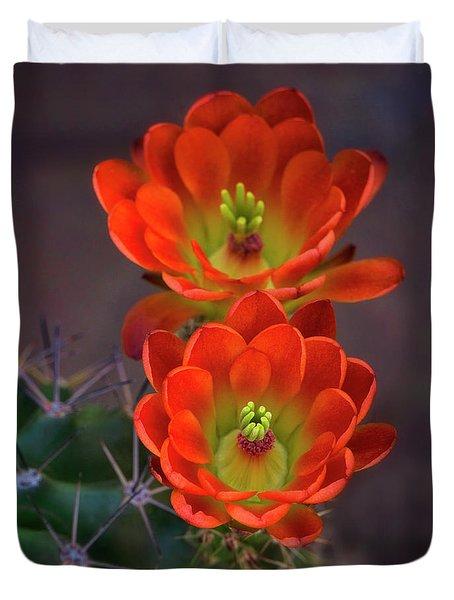Duvet Cover featuring the photograph Orange Ya Beautiful  by Saija Lehtonen