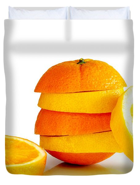 Oranje Lemon Duvet Cover by Carlos Caetano