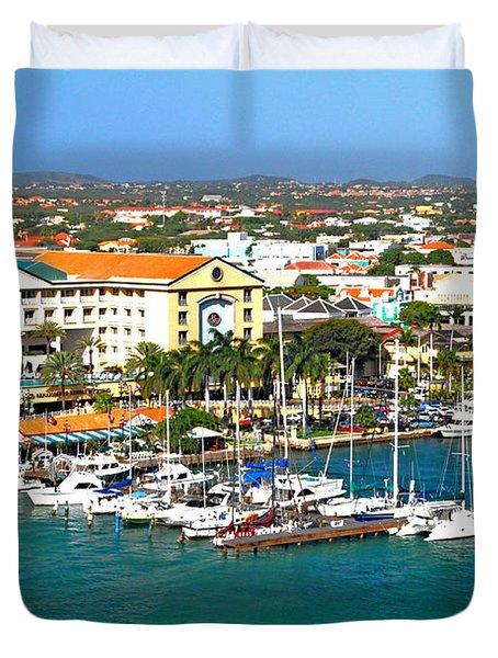 Oranjestad Aruba Duvet Cover