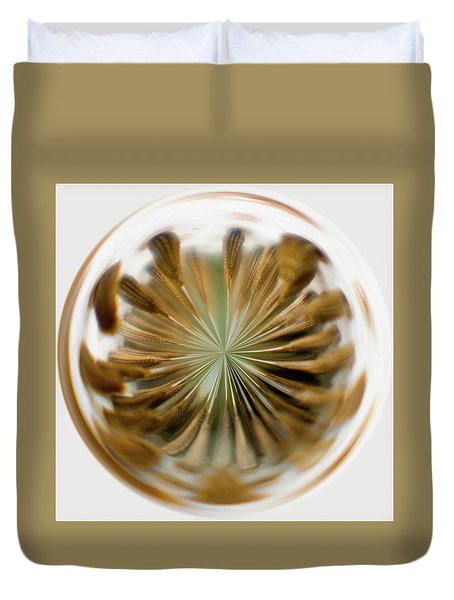 Duvet Cover featuring the photograph Orb Image Of A Dandelion by Brenda Jacobs