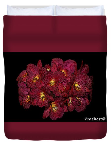 Orchid Floral Arrangement Duvet Cover